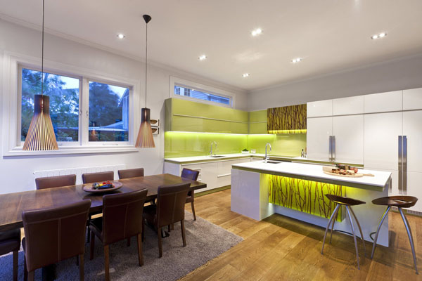 green-and-white-modern-kitchen