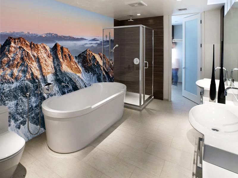 фоотообои в ванной