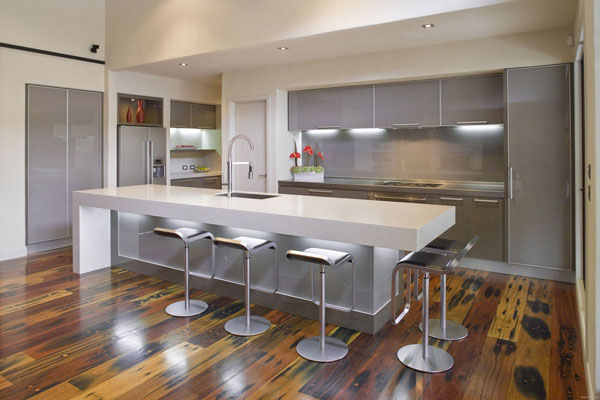 silver-and-white-modern-kitchen