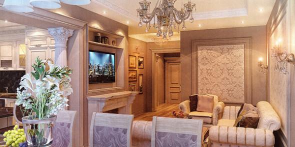 Квартира в классическом стиле интерьер фото