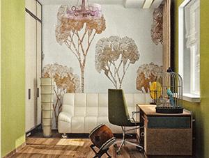 колониальный стиль в комнате