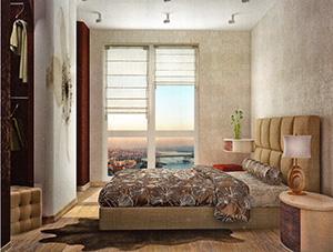 колониальный стиль в интерьере спальни