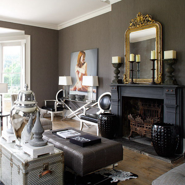 Majestic-Black-Fireplace-Design-in-English-Homes