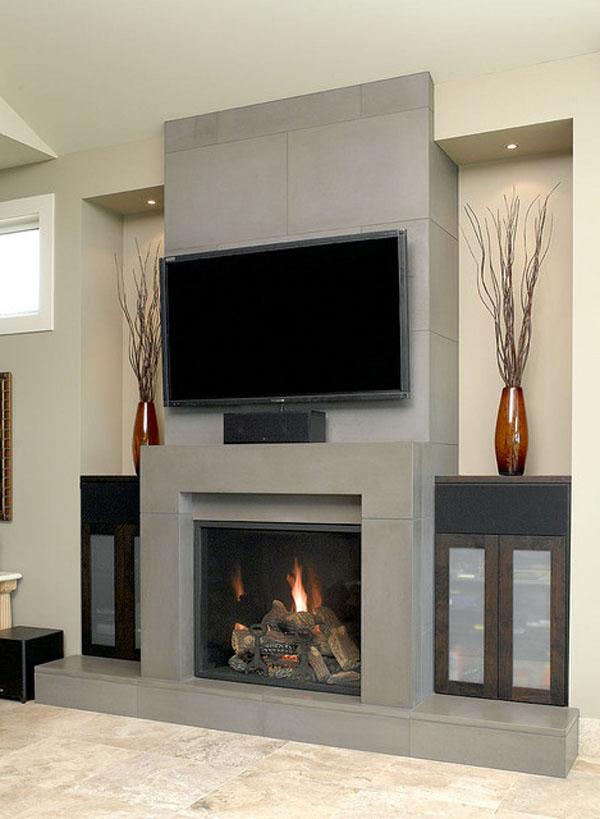 Modern-Block-Concrete-fireplace-earthy-living-room