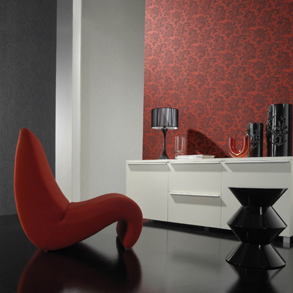 Modern-eco-friendly-red-floral-wallpaper
