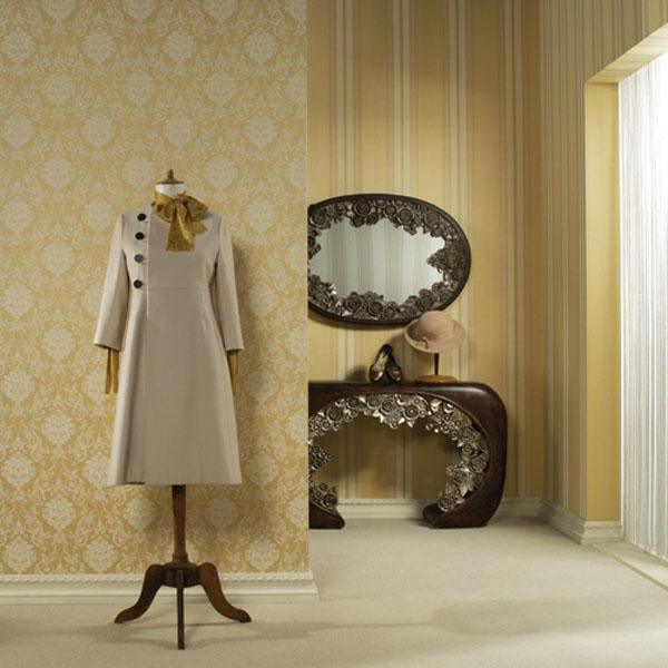 Yellow Modern Minimalist Living Dining Room Interior