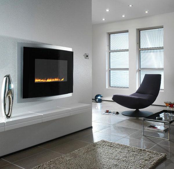 Modern-wall-mounted-fireplace