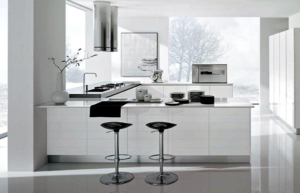 Modern-white-and-chrome-kitchen