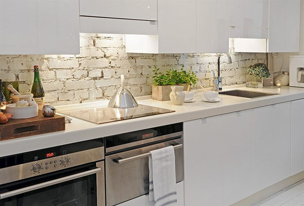 white-brick-backsplash