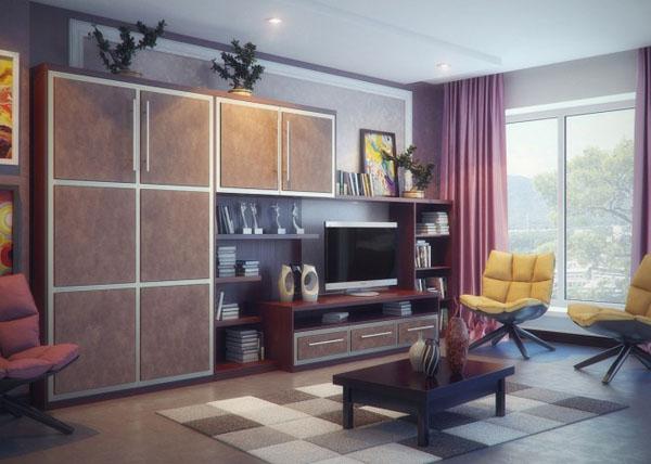 Brown-purple-yellow-living-room-665x474
