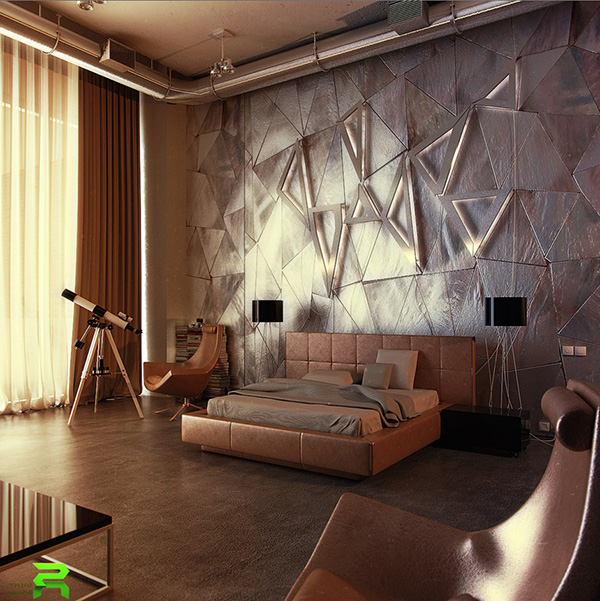 Contemporary-headboard-feature-wall