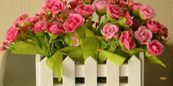 Красивые букеты искусственных цветов 69