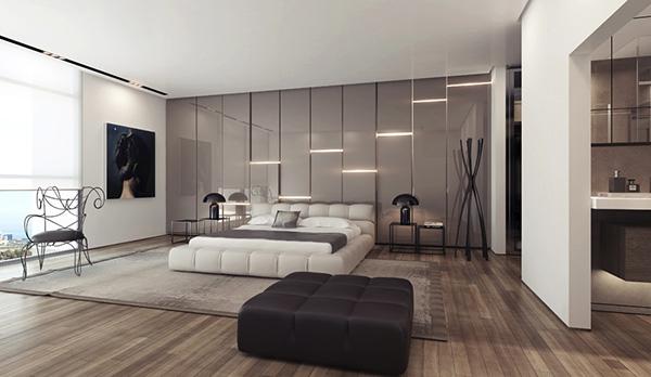 Gray-gloss-wall-lighting-panels