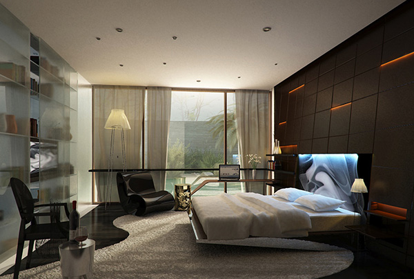 Recessed-Lighting-feature-wall