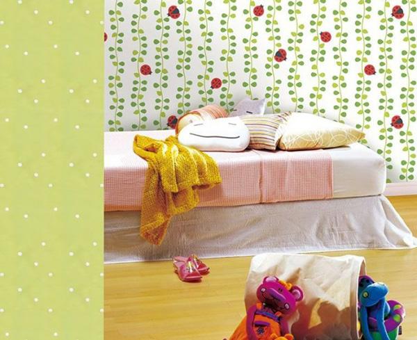 green-white-ladybug-wallpaper-665x542