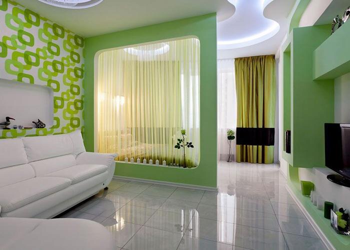 Спальня совмещенная с гостиной фото