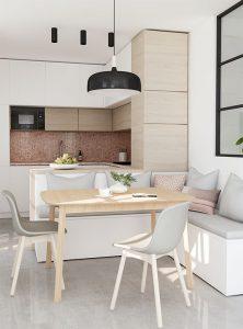 Маленькая кухня может быть отделана множеством различных способов