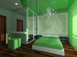 Оформление спальной комнаты