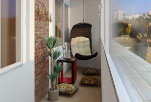 Делаем уютным маленький балкон