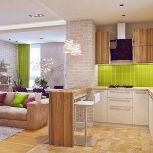 Совмещаем маленькую кухню с гостиной